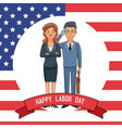 happy labor day card vector image