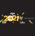 happy new 2021 year elegant poster template vector image vector image