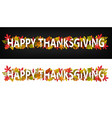 happy thanksgiving horizontal banners vector image vector image