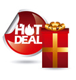 hot deal vector image vector image