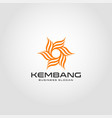kembang - flower logo template vector image vector image
