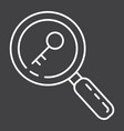 keyword research line icon seo and development vector image vector image