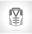 Life vest black line icon vector image