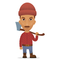 lumberer with an axe vector image vector image