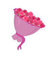 luxury big bouquet with pink spring flowers vector image