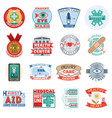 medical health center clinic logo emblem vector image vector image