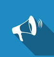 megaphone icon isolated with long shadow vector image vector image