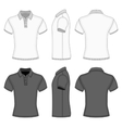 Mens polo shirt and t-shirt design templates vector image vector image