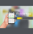 mobile taxi concept background vector image