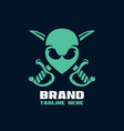 modern alien pirate mascot logo vector image
