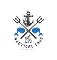 nautical logo original design est 1979 retro vector image vector image
