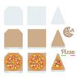 pizza box cardboard box mockup slice slice vector image vector image