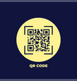 qr code icon in trendy flat style isolated on vector image
