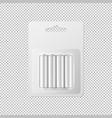 realistic white alkaline aa batteries in vector image vector image
