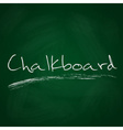 retro dark green chalkboard background with text vector image vector image