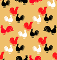 Rooster pattern6 vector image