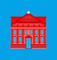 santa claus bank building red christmas financial vector image vector image