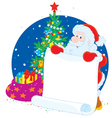 Santa Claus with announcement vector image vector image