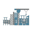 scaffold and building vector image vector image