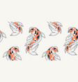 seamless pattern with koi fish vector image