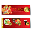 set food coupon discount template design vector image vector image