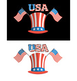 Set for elections in America Uncle Sam hat vector image vector image