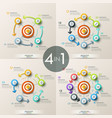 set of 4 modern infographic design templates vector image