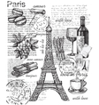 set of france vector image vector image