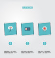 set of marketing icons flat style symbols with vector image vector image