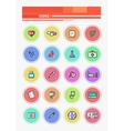 set outline medicine icons vector image vector image