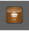 Shop wood application icons vector image vector image