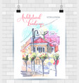 sketching in format poster vector image vector image