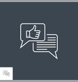 social engagement line icon vector image
