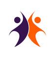 social media - logo concept human vector image