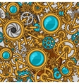 Steampunk seamless pattern of metal gears in vector image vector image