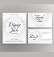 stylish mandala wedding decoration card suite vector image vector image