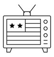 television with usa flag on screen united state vector image vector image