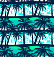 Tropical frangipani with palms seamless pattern vector image vector image