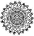 vecor drawing of floral round lace mandala vector image