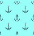 vintage anchor hand drawn seamless pattern vector image