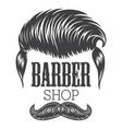 vintage monochrome barber shop vector image
