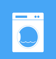 Washing machine on a blue background vector image