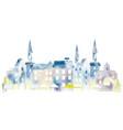 watercolor european townscape vector image