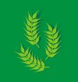 wheat paddy logo vector image vector image