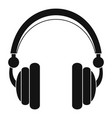 wired headphones icon simple style vector image vector image