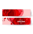 world blood donor day paper cut background vector image