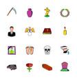 death icon set vector image