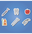 color icons with dental symbols vector image