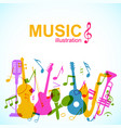 decorative musical abstract background vector image