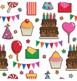 party pattern vector image